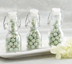 Personalized Mini Glass Favor Bottle with Swing Top (Set of 12)