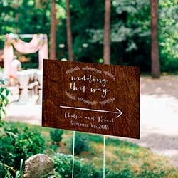 Personalized Directional Sign (18x12) - Rustic