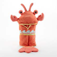 """Lobster Laughs"" Lobster Hooded Towel (0-9 Months)"